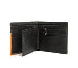 Gunas New York Vegan Leather WOODY Slim Wallet Brown