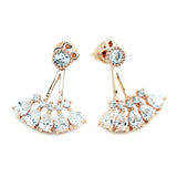Kristin Perry Crystal Fan Ear Jacket Earring