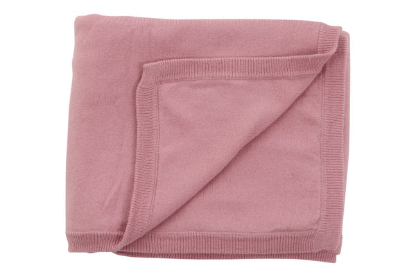Sweet Peanut cotton cashmere blanket Pink