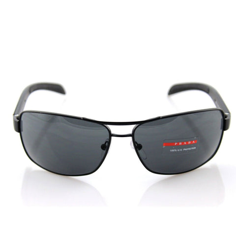 Prada Sport Matte Black Metal Sunglasses SPS 54I 1BO 1A1 PS 54IS