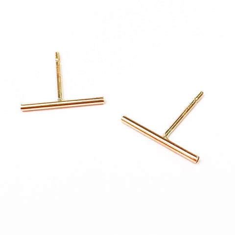Agapantha Thin Line Studs LG Earrings