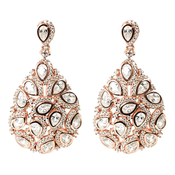 Latelita London Peacock Earring Rosegold