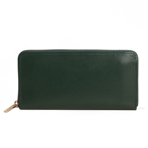 Paperthinks Europe Leather Zip Long Wallet Deep Olive Green