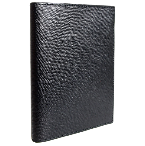 72 Smalldive Saffiano Leather Passport Sleeve Black