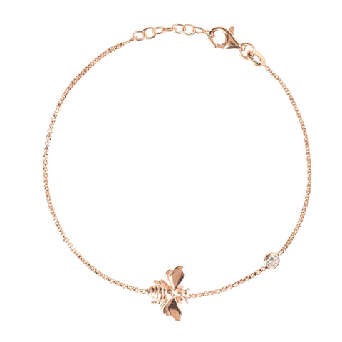 Latelita London Queen Bee Bracelet Rosegold