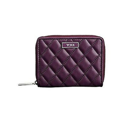 Tumi Montague Leather Zip around Violet Purple small wallet