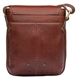Hidesign Vespucci Leather Small Cross Body Messenger Brown