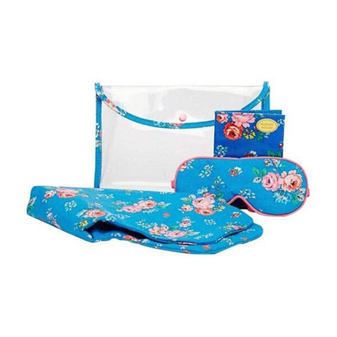 Cath Kidston Essential Travel Gift Set Field Rose Bright Blue