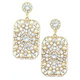 Kristin Perry Caged Crystal Chandelier Earrings Gold