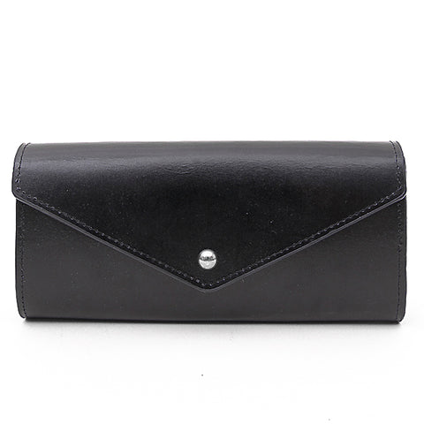 Paperthinks Recycled Leather Envelope Wallet Black