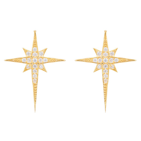 Latelita London North Star Small Stud Earring Gold