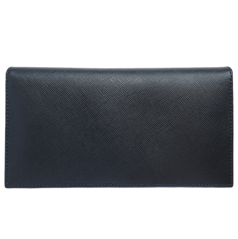 72 Smalldive Saffiano Leather Travel Wallet Black