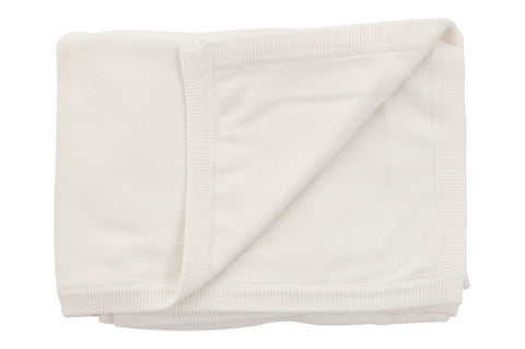 Sweet Peanut cotton cashmere blanket White