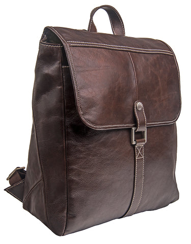 Hidesign Hector Leather Backpack Brown