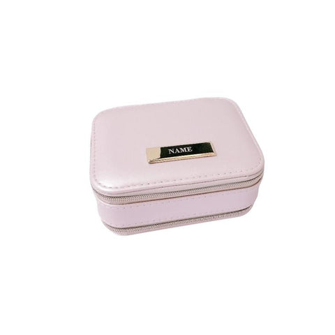Engraved Personalised Jewelry Box Light Pink