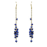 Gena Myint Lapis Lazuli Cascading Cluster Earrings