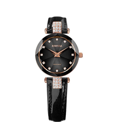 Jowissa Facet Strass Swiss Leather Ladies Watch J5.623.S