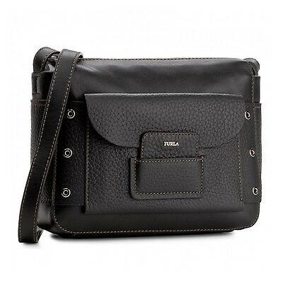 FURLA Adele Small Crossbody Zip Closure Leather Bag