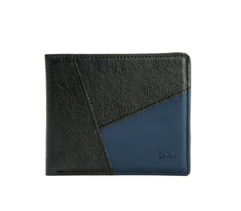 Gunas New York Vegan Leather WOODY Wallet Blue