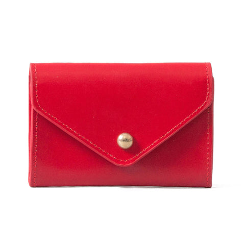 Paperthinks Recycled Leather Card Envelope Scarlet Red