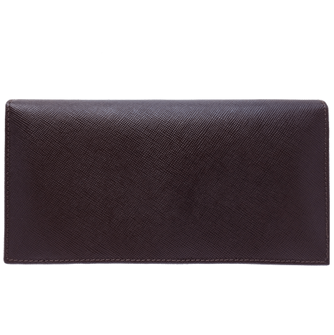 72 Smalldive Saffiano Leather Travel Wallet Brown