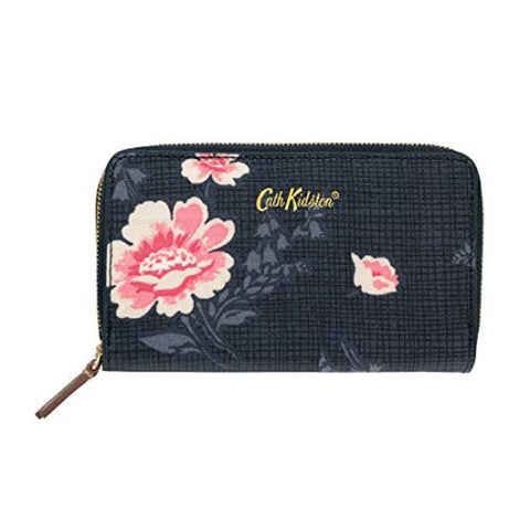 Cath Kidston Women's Double Pocket Nappy Wallet Patchwork Royal Blue 754804
