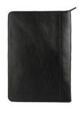 Hidesign IMG iPad Leather Portfolio/Padfolio with Handmade Paper Notebook Black