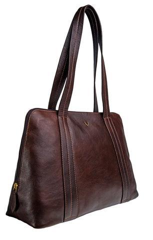 Hidesign Cerys Leather Multi-Compartment Shoulder Bag Brown