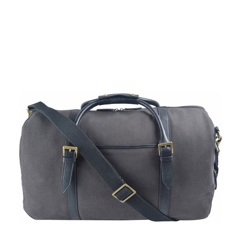 Hidesign Charles Canvas & Leather Cabin Travel Duffle Weekend Bag
