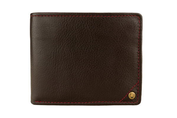 Hidesign Angle Stitch Leather Multi-Compartment Leather Wallet Brown