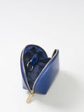 Paperthinks Recycled Leather Coin Pouch Navy Blue