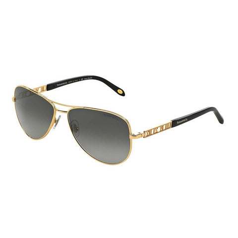 Tiffany Sun 0TF3047K Full Rim Pilot Womens Sunglasses Size 57 Gold/Grey Gradient-TF3047K6092X1
