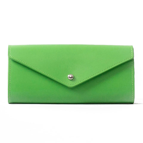 Paperthinks Recycled Leathe Envelope Wallet Mint Green