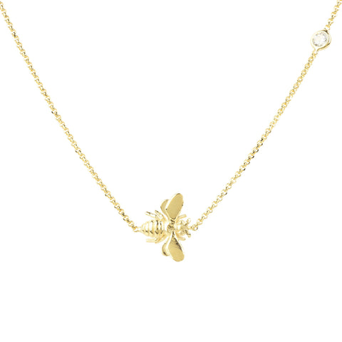 Latelita London Queen Bee Necklace Gold