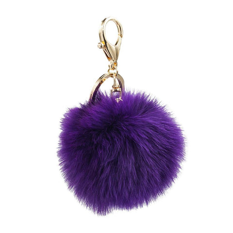 ClaudiaG Foxy Bag Charm Keychain Plum Purple