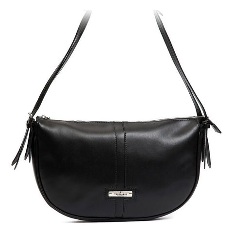 Trussardi Leather Black Shoulder Bag