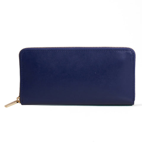 Paperthinks Leather Long Wallet Navy Blue