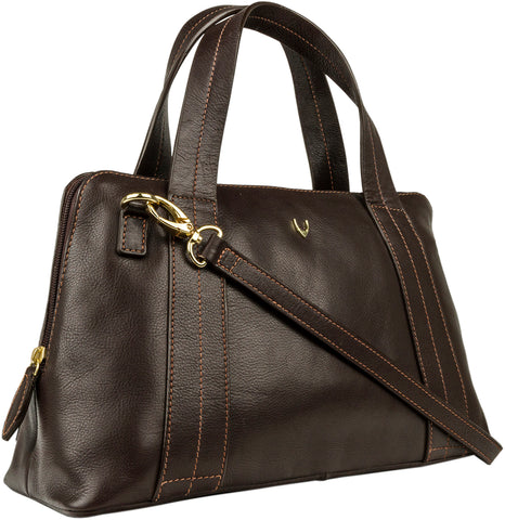 Hidesign Cerys Leather Satchel Brown
