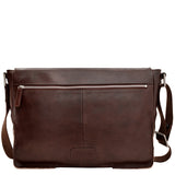 Hidesign Fred Leather Business Laptop Messenger Cross Body Bag Brown