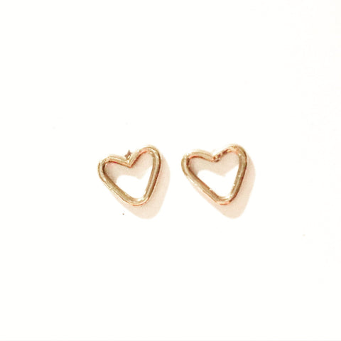 Agapantha Junibel Sweatheart Studs Earrings
