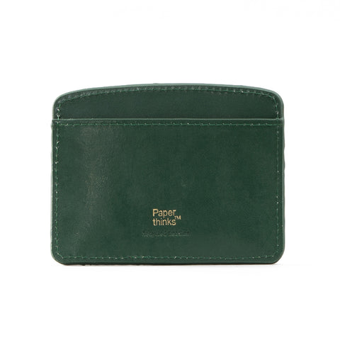 Paperthinks Leather Card Case Deep Olive Green