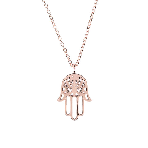 Latelita London Cosmic Hamsa Necklace
