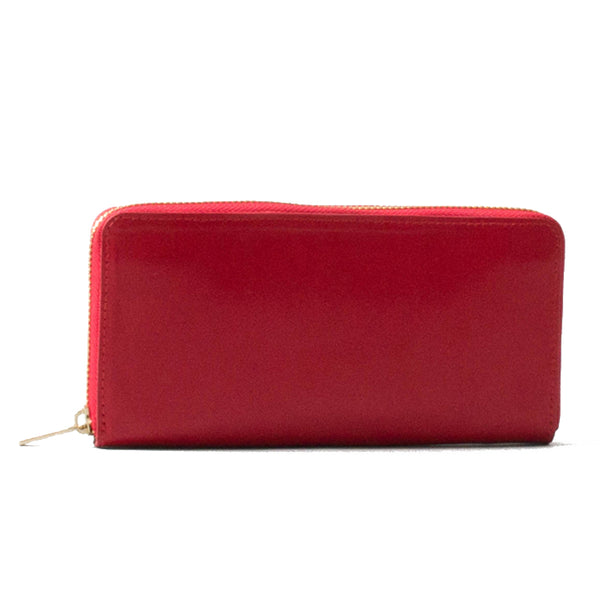 Paperthinks Recycled Leather Long Zip Wallet Scarlet Red