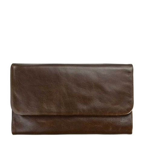 STATUS ANXIETY Audrey Leather Wallet CHOCOLATE BROWN