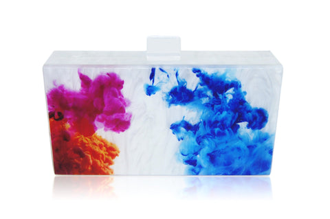 Art Abstract Paint Acrylic Box Clutch