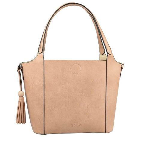 PRATTEN Barbados Shoulder Bag Nude Brown