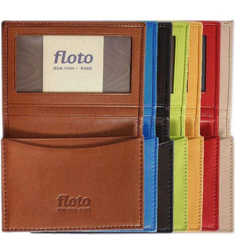 Floto Italian Leather Firenze Business Card Case Wallets