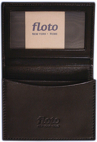 FLOTO Firenze Leather Business Card Case Black