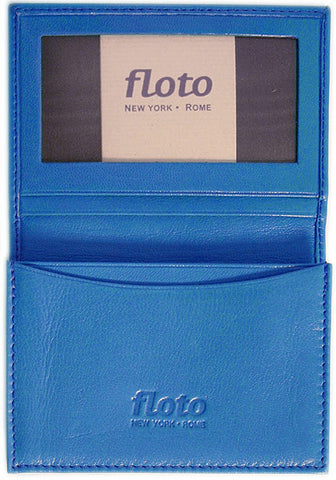FLOTO Firenze Leather Business Card Case Blue