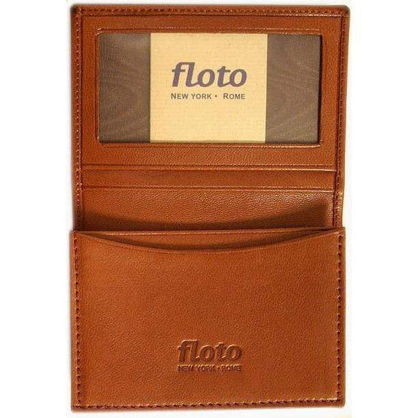 Floto Italian Leather Firenze Business Card Case Wallet brown